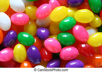 Easter Egg Candy - Jelly Eggs of Various Colors are...