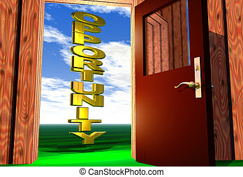 Opportunity come knocking - Opening the door to a golden...