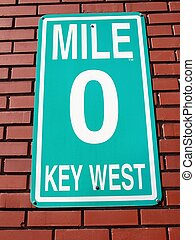 Mile Marker Sign - Photographed mile marker sign at the end...