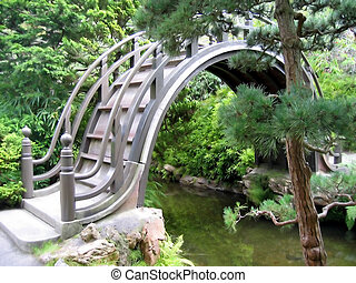 Japanese Bridge - Bridge in Japanese Tea Garden, Golden Gate...