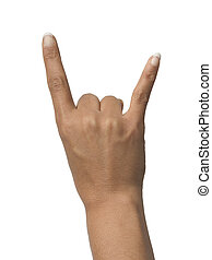 Hell yeah! - Rocker sign on white background