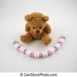 粉紅色, 小珠, 熊