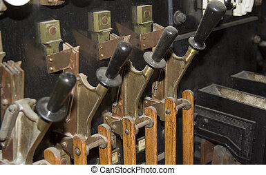 Vintage Power Switchgear - Old fashioned vintage electrical...