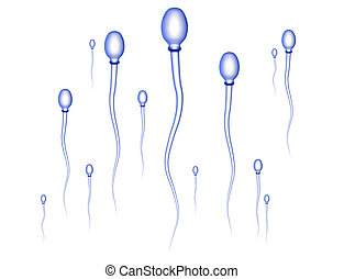 Sperm Race 2 - Sperm Cells. High res 3D render.