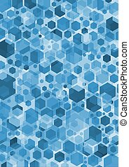 Hex Blue - Blue hexagonal shapes