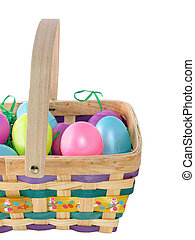 Easter Basket - Easter basket with colorful eggs