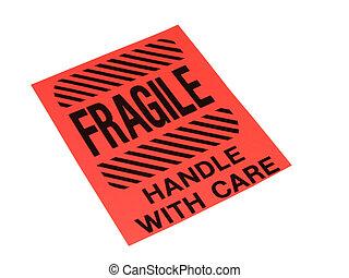 frágil, señal