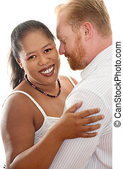 Inter racial relationships - Happy Couple - Interracial...