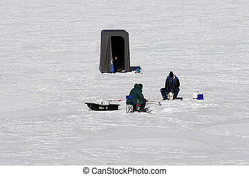 1, pesca, hielo