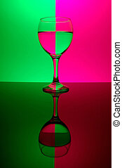 Glass on neon background - see portfolio for more views
