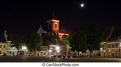 Old City at Night - Old city at night - Kaunas, Lithuania
