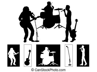 Band - Musicians - silhouettes