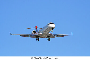 Airliner Approach - A airliner making the final approach to...