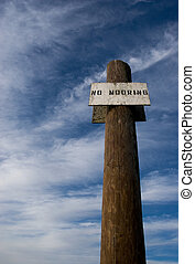 No Mooring 4 - Photo of a No Mooring sign at the Yacht Club...