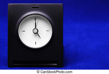 Travel clock - on a blue background