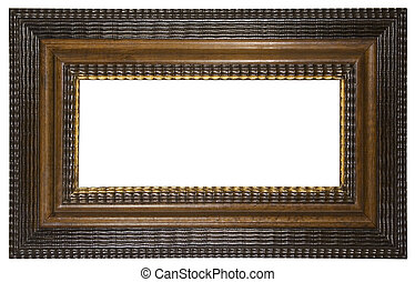 Picture Frame Brown - Brown wooden empty frame for putting...