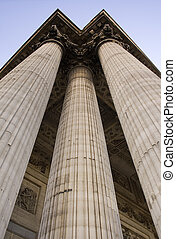 Three Columns - Symbolic columns. Shot was taken in Paris,...