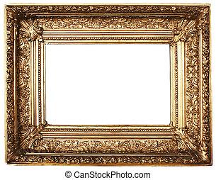 imagen, marco, (Gold)