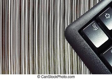EDP - EDV - Keyboard on barcode - Tastatur auf Strichcode
