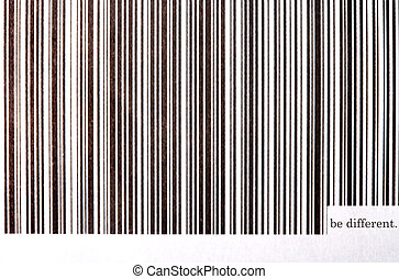 "be different - sei anders - barcode with \""be..."