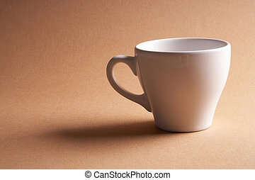 coffee time - Kaffeezeit - coffee cup on brown background -...