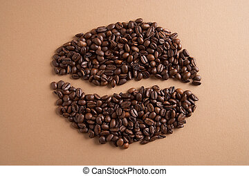 coffeebean - Kaffebohne - Coffee layed to a coffeebean -...