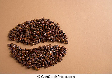 coffeebean - Kaffeebohne - Coffee layed to a coffeebean -...
