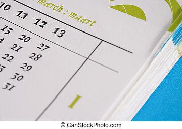 days - Tage - cantle of a timer - Ausschnitt eines...