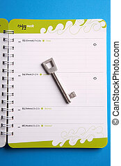 key to success - Schuessel zum Erfolg - key laying on a...