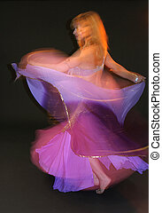 Dancing Girl - Belly Dance - in Motion