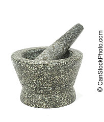 Mortar on white background