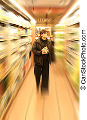 shopping in grocery
