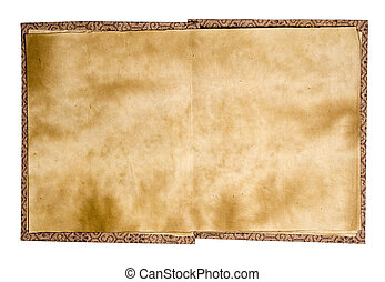 Old Chinese Book (r) - Blank pages of an ancient Chinese...