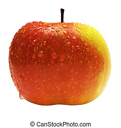 Apple w Raindrops - Raindrops on a delicous and refreshing...