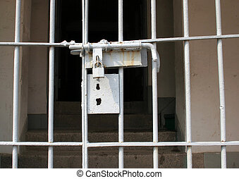 Locked gate at Seodaemun Prison History Hall, Seoul, South...