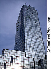 Blue Tower in Warsaw - One of the new skyscrapers in Polish...
