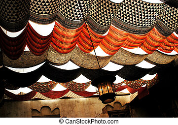 morrocan drapes - colourful morrocan drapes