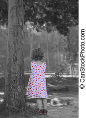 Dream under Tree - I took this picture of the young lady...