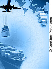 Freight template - Photo montage of freight/transport...