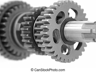 Gears 3 - Gears gear box shaft closeup