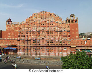 Jaipur - Hawa Mahal - India: Hawa Mahal - Palace of the...