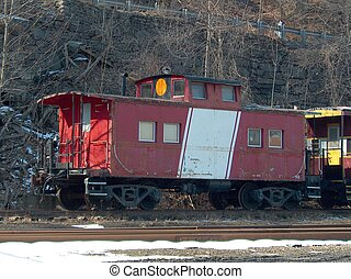 Caboose at rest