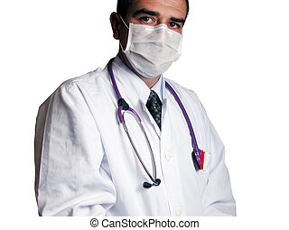 Doctor - Portrait of an internist in special lighting...