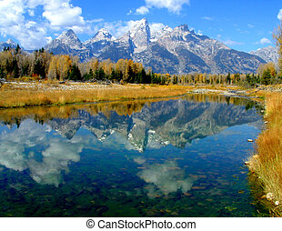 Teton Reflection - Grand Teton National Park,Wyoming