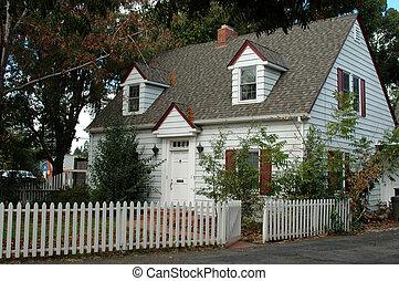 白色, 房子