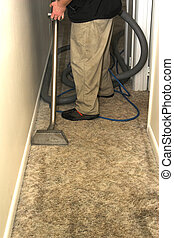 carpet cleaning 2 - man cleaning carpet