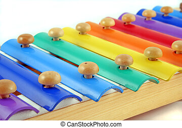 music - childs glockenspiel displaying a range of colours...