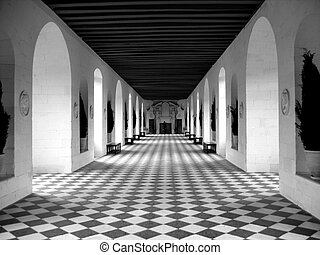 Checkerboard Floor - B&W photo of a beautiful checkerboard...