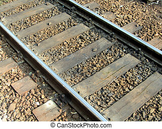 Rail Tracks - View of rail tracks in Poland