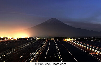 Lightworks - Mysterious lights in front of Mount Fuji